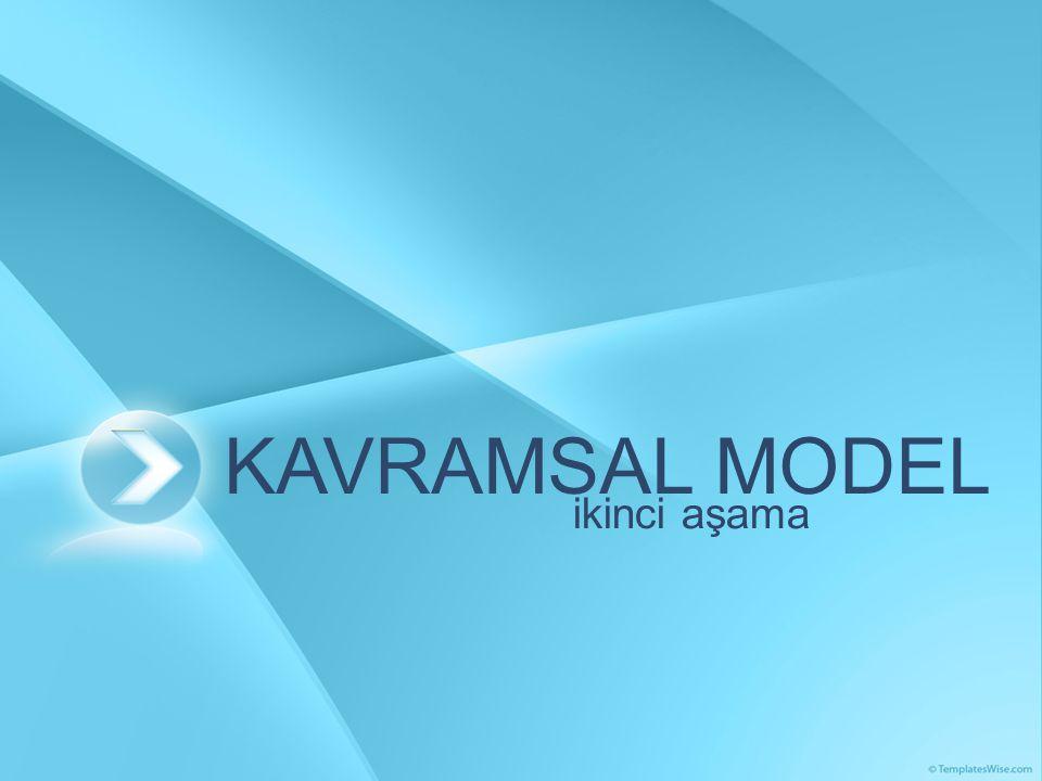 KAVRAMSAL MODEL ikinci aşama