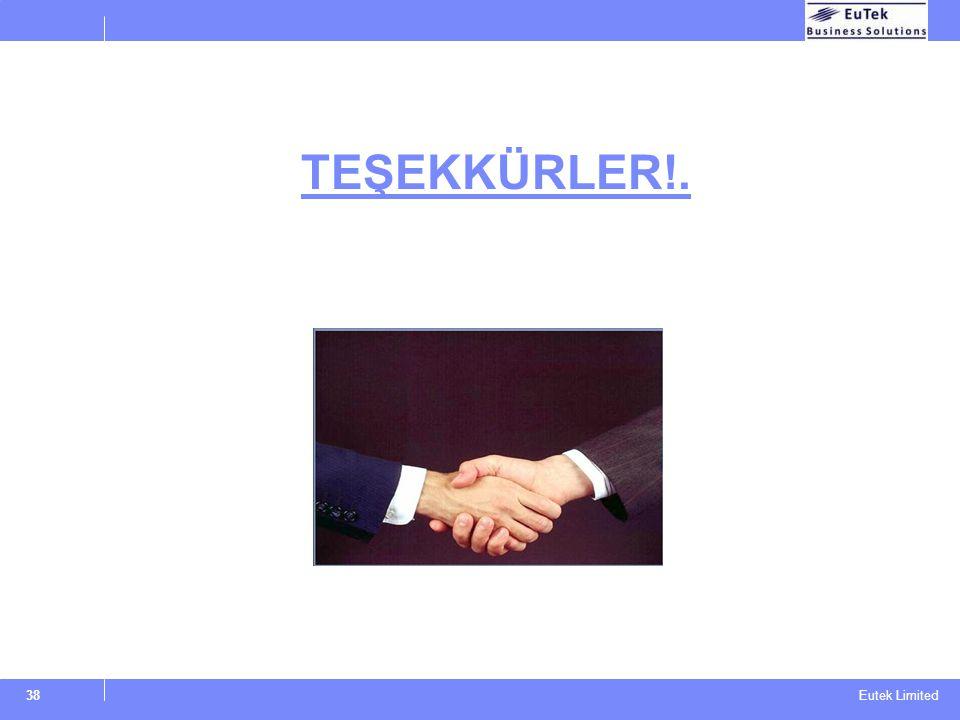 Eutek Limited TEŞEKKÜRLER!. 38