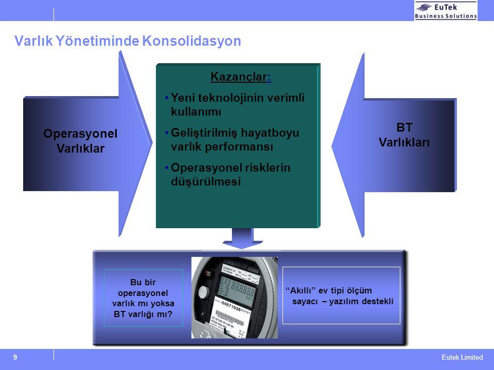 Eutek Limited Varlık Uyumluluğu BT destekli operasyonel varlıklar Şebekelenmiş varlıklar BT içeren varlıklar Servis desteği sorumluluk karışıklığı Ope