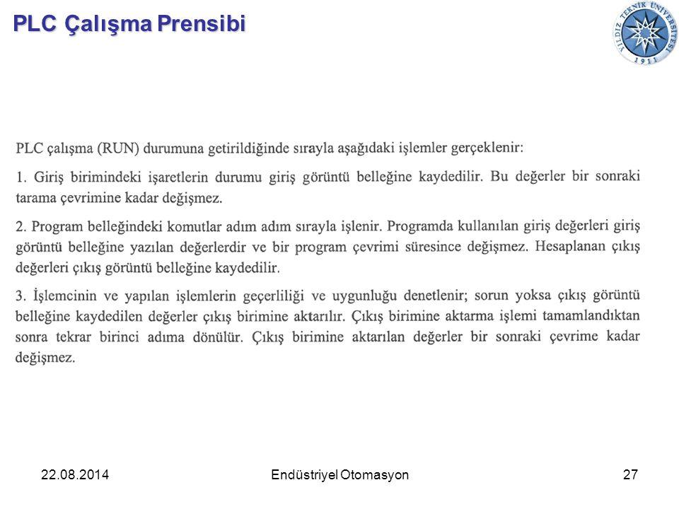 22.08.201427Endüstriyel Otomasyon PLC Çalışma Prensibi