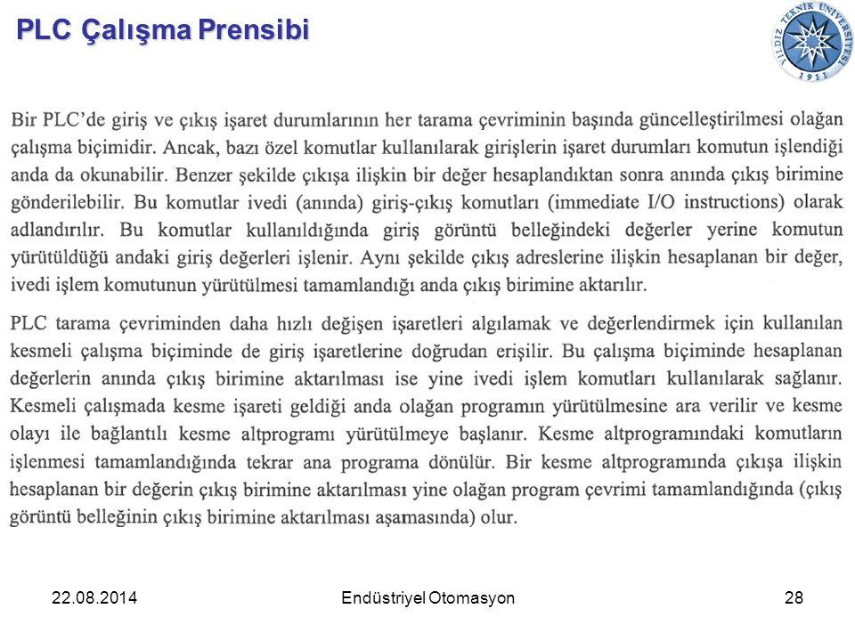 22.08.201428Endüstriyel Otomasyon PLC Çalışma Prensibi