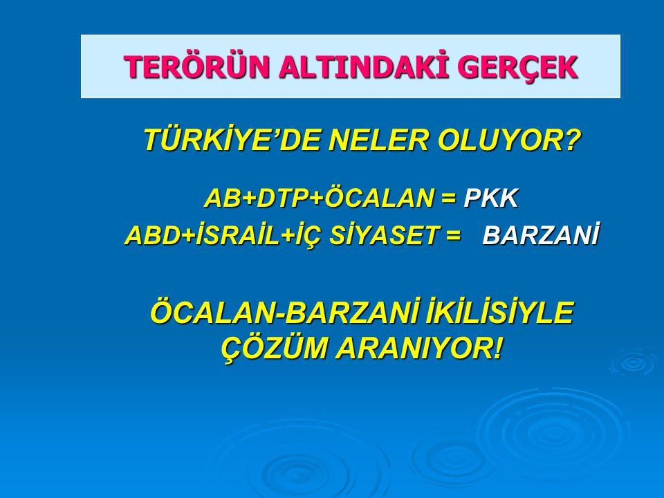 TÜRKİYE'DE NELER OLUYOR.