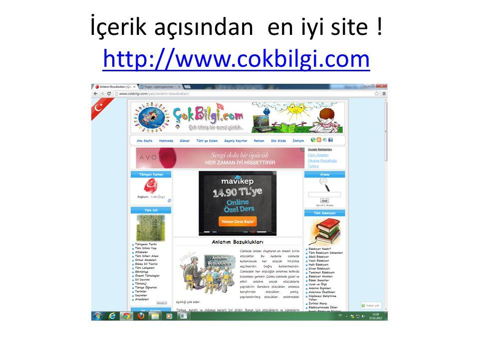 İçerik açısından en iyi site ! http://www.cokbilgi.com http://www.cokbilgi.com
