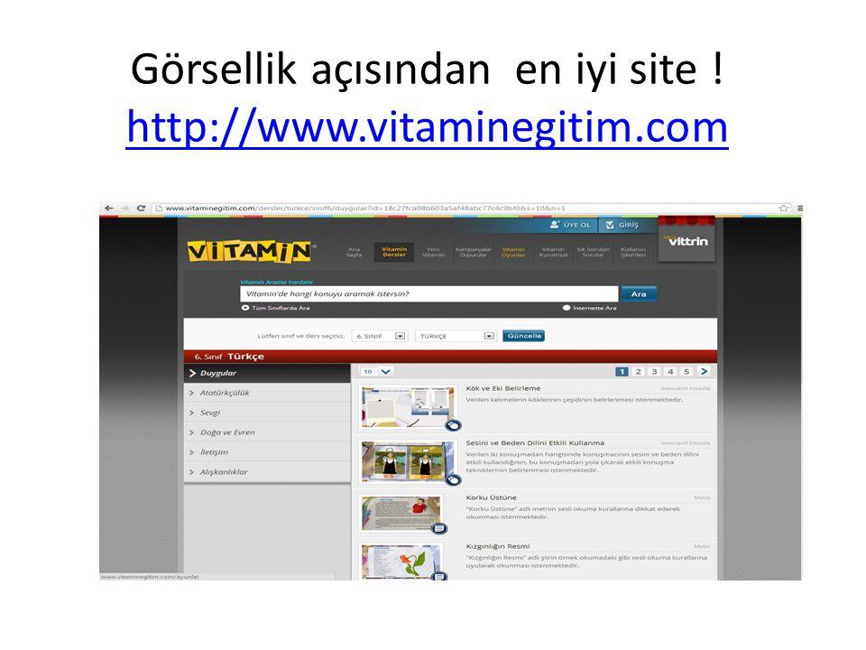 Görsellik açısından en iyi site ! http://www.vitaminegitim.com http://www.vitaminegitim.com