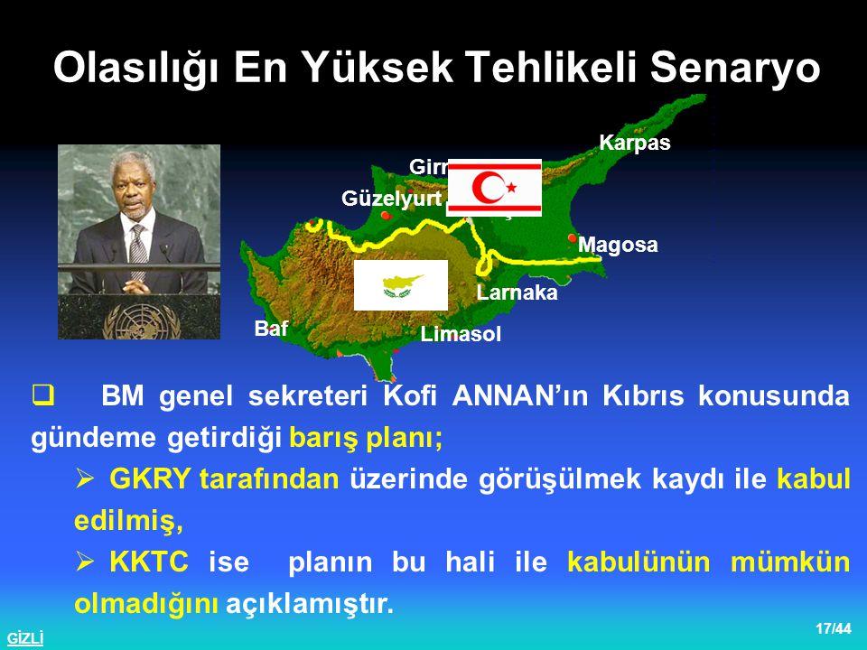 GİZLİ 18/44  İngiltere'nin Kıbrıs özel temsilcisi HANNAY belgenin müzakereye açık olduğunu ifade etmiştir.