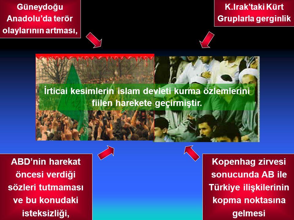 GİZLİ 32/44  Özellikle Kocaeli, Adapazarı ve İstanbul'da rejim aleyhinde gösteriler düzenlenmeye başlamıştır.