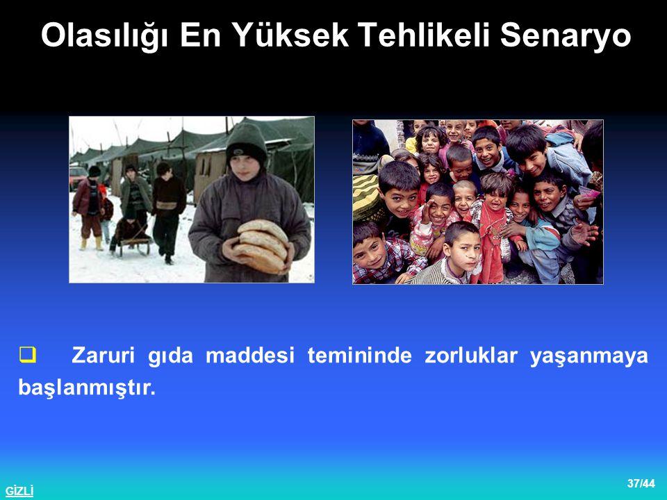 GİZLİ 38/44  Yetkililer tarafından İzmit ve Adapazarı'nda da gerilimin oldukça yükseldiği dile getirilmiştir.