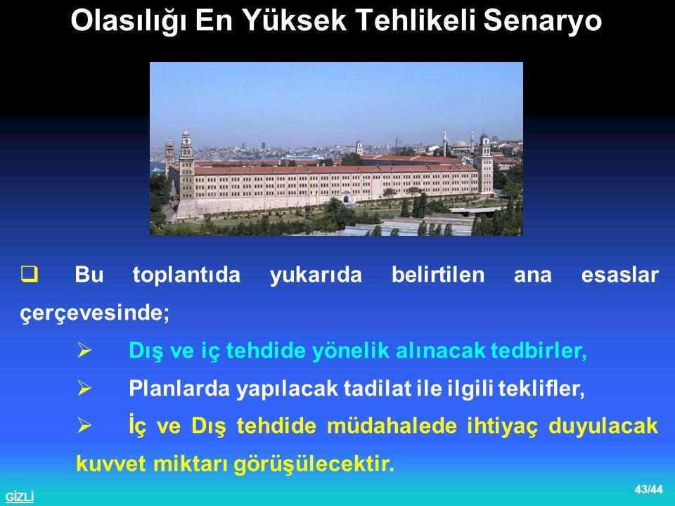 GİZLİ 44/44 1 nci Ordu Plan Semineri 2003