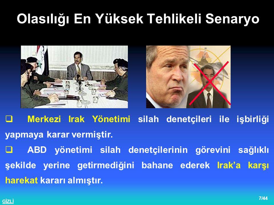 GİZLİ 8/44  Türkiye, ABD ile yapılan anlaşmada Kuzey Irak'ta Kürt Devleti kurulması konusundaki hassasiyetini beyan etmiştir.
