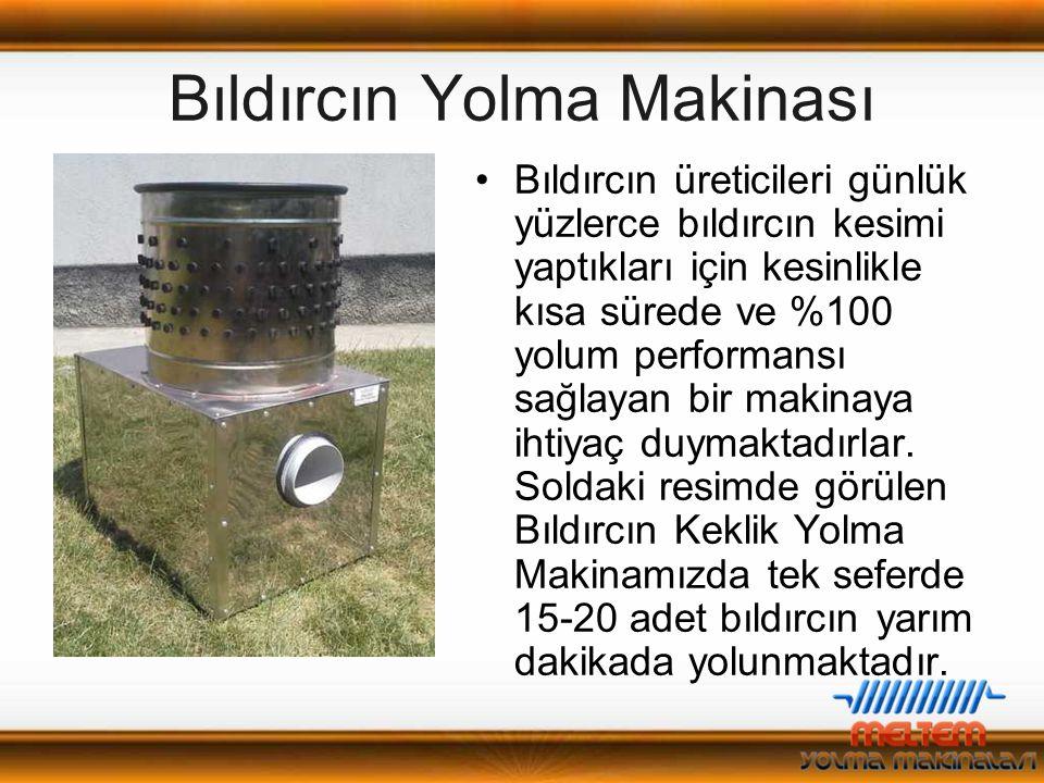 Tavuk Yolma Makinası Teknik Özellikler Ebatlar : 60Cm. / 65Cm. / 90Cm. Güç : 0,75 Kw. Malzeme : Paslanmaz (Krom) Çelik Tekne Çapı : 55 Cm. Kapasite: 1