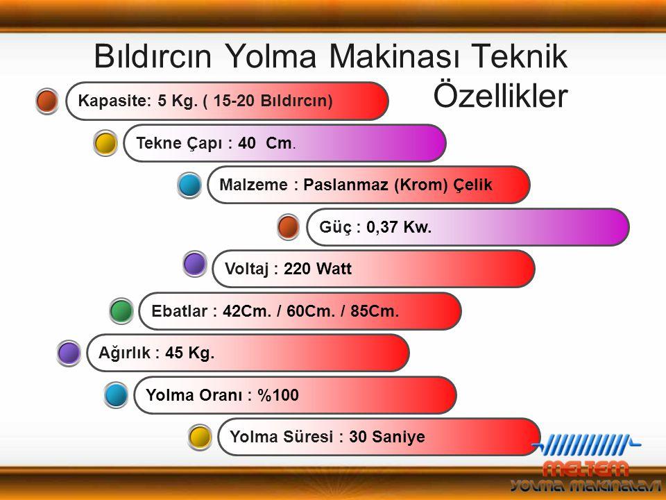 Bıldırcın Yolma Makinası Teknik Özellikler Ebatlar : 42Cm.