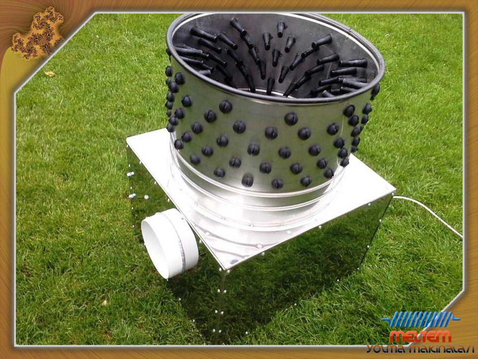 Bıldırcın Yolma Makinası Teknik Özellikler Ebatlar : 42Cm. / 60Cm. / 85Cm. Güç : 0,37 Kw. Malzeme : Paslanmaz (Krom) Çelik Tekne Çapı : 40 Cm. Kapasit
