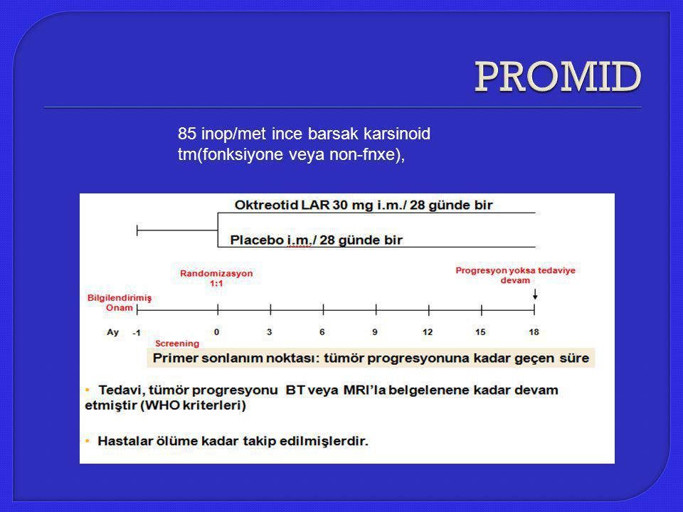 85 inop/met ince barsak karsinoid tm(fonksiyone veya non-fnxe),