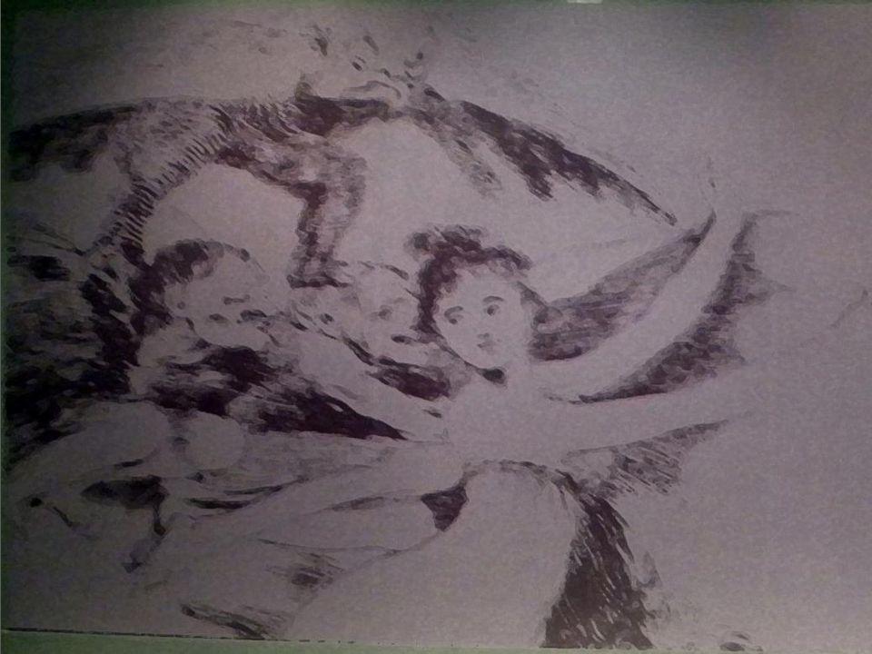 Ölüleri göm ve sus Aside yedirme baskı, perdahlanmı ş suluboya, i ğ ne kazı ve çelik uç, Özel Koleksiyon,Madrid Bury them and keep quiet Etching, burnished watercolor, dry point, burin and chisel, Private collection,Madrid