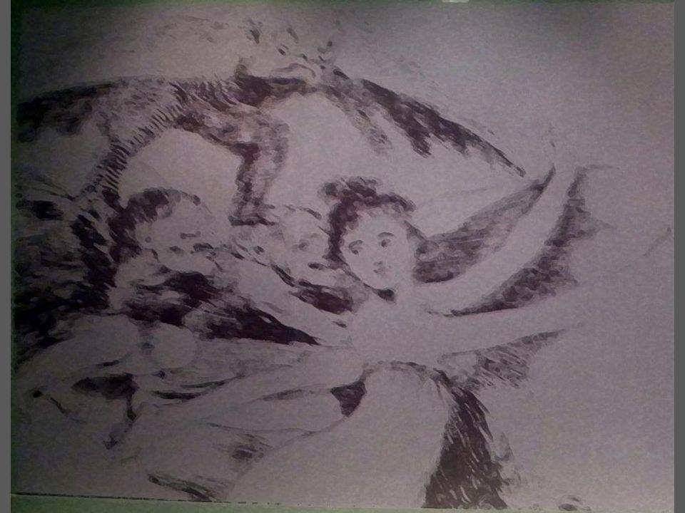Etobur akbaba Aside yedirme baskı, çelik uç, perdah kalemi ve i ğ ne kazı Özel Koleksiyon,Madrid The carnivorous vulture Etching, chisel, burnisher and dry point, Private collection,Madrid