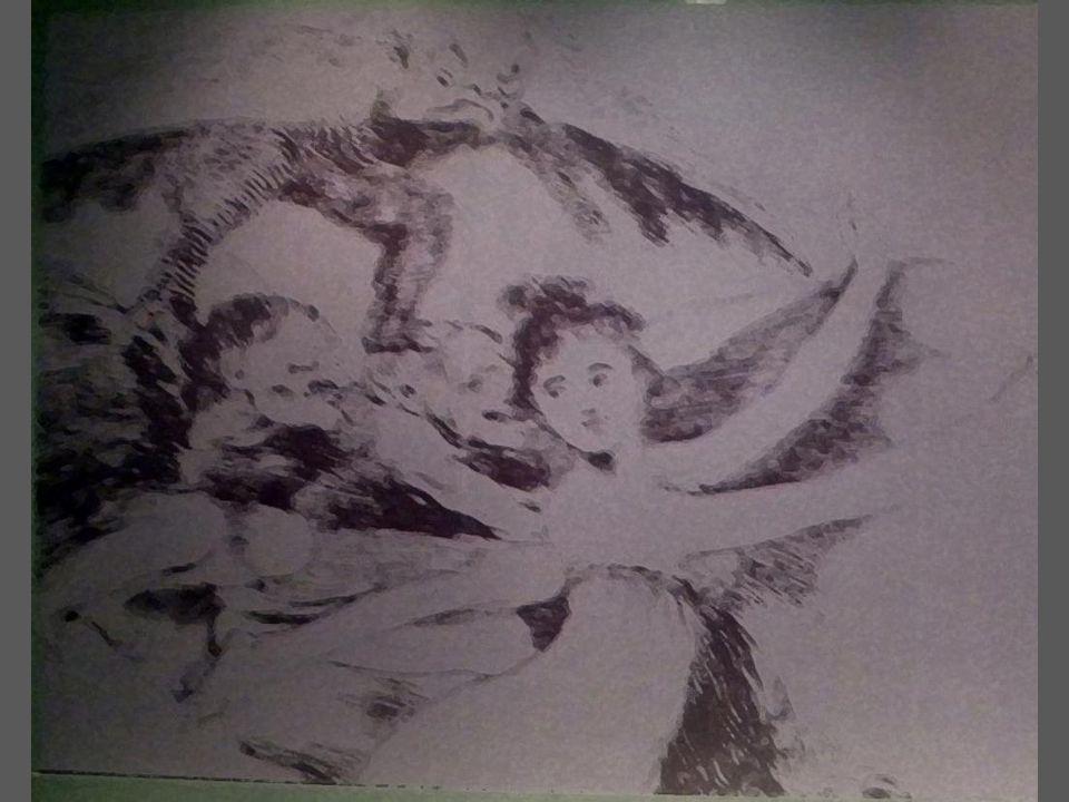 Ölüm dö ş ekleri Aside yedirme baskı,suluboya, i ğ ne kazı, çelik uç ve perdah kalemi, Özel Koleksiyon,Madrid The deathbeds Etching, watercolor,dry point, chisel, and burnisher, Private collection,Madrid