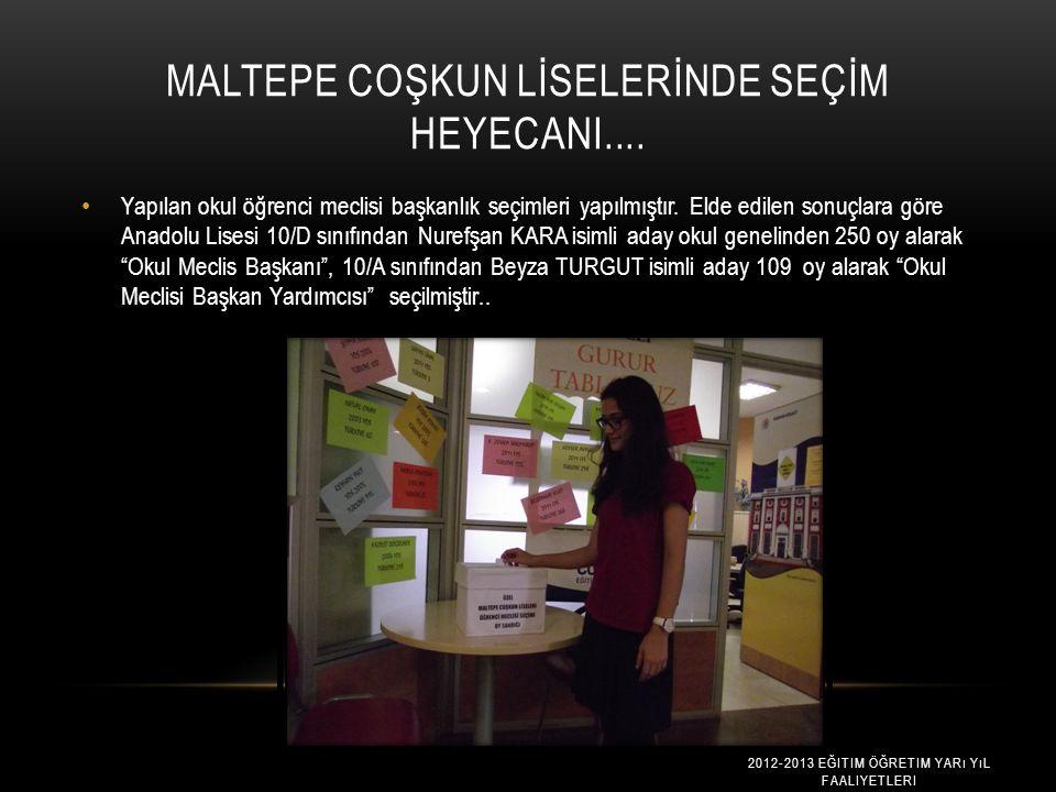 İSTANBUL'U TANIMA KULÜBÜ TAKS İ M'DE 2012-2013 EĞITIM ÖĞRETIM YARı YıL FAALIYETLERI