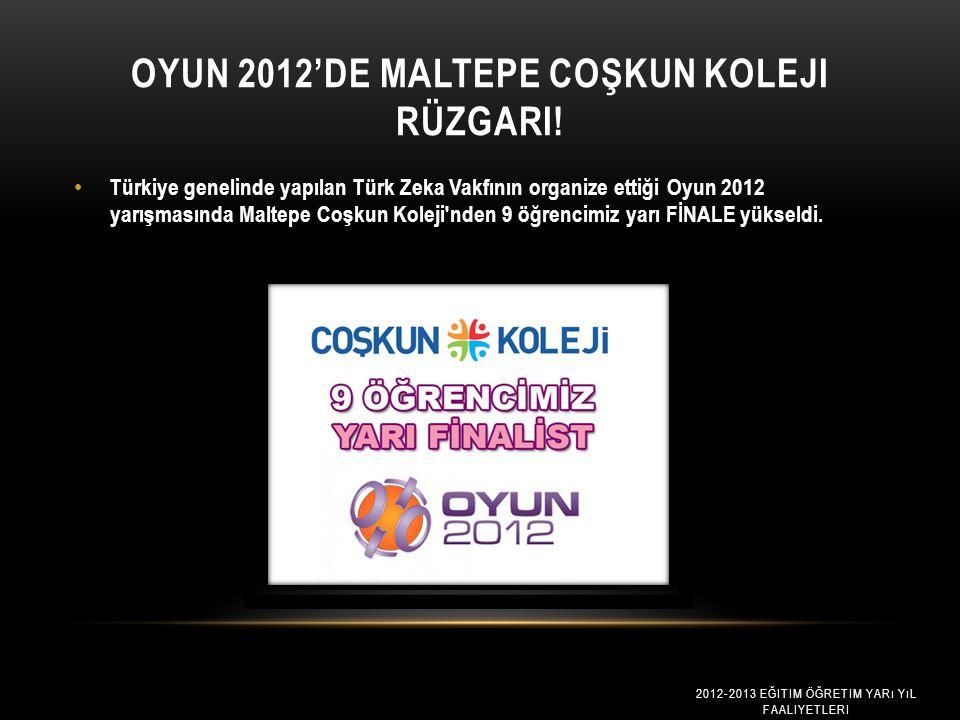 OYUN 2012'DE MALTEPE COŞKUN KOLEJI RÜZGARI.