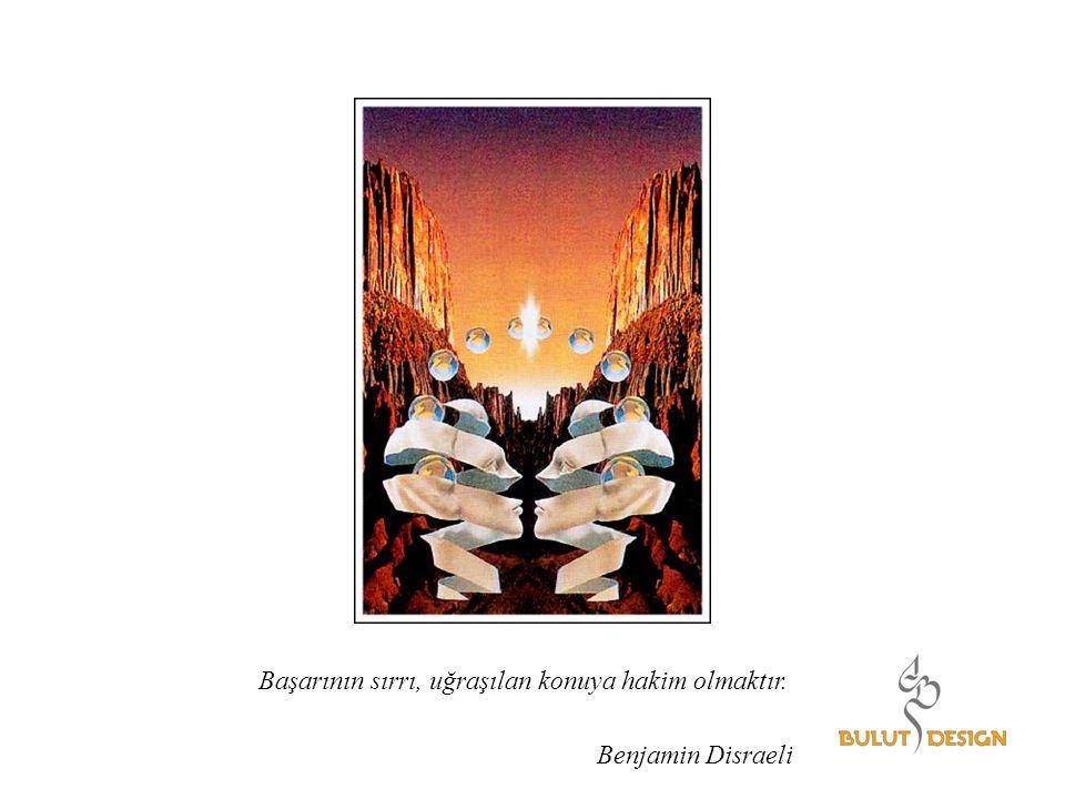 Başarının sırrı, uğraşılan konuya hakim olmaktır. Benjamin Disraeli