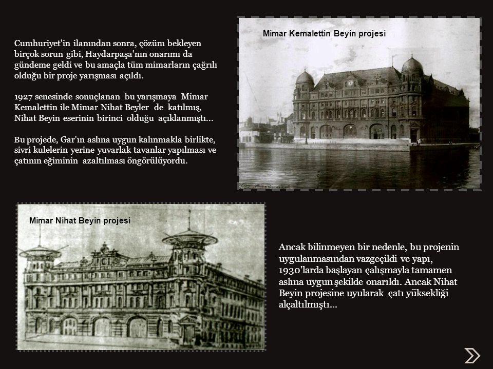 Haydarpaşa 1925 6 Eylül 1917 deki infilaktan sonra Haydarpaşa Garı, yıllarca çatısı ve kuleleri yok olmuş bir halde, onarılacağı günü bekledi.