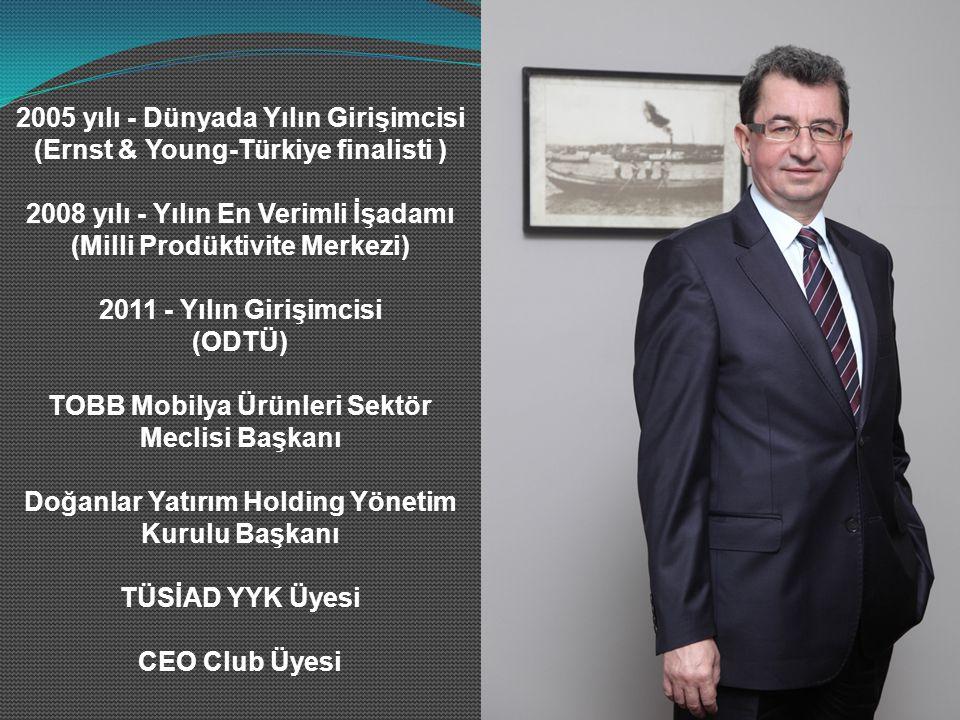 2005 yılı - Dünyada Yılın Girişimcisi (Ernst & Young-Türkiye finalisti ) 2008 yılı - Yılın En Verimli İşadamı (Milli Prodüktivite Merkezi) 2011 - Yılın Girişimcisi (ODTÜ) TOBB Mobilya Ürünleri Sektör Meclisi Başkanı Doğanlar Yatırım Holding Yönetim Kurulu Başkanı TÜSİAD YYK Üyesi CEO Club Üyesi