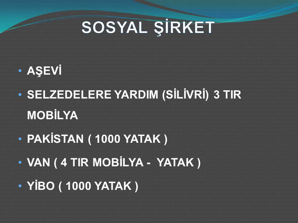 AŞEVİ SELZEDELERE YARDIM (SİLİVRİ) 3 TIR MOBİLYA PAKİSTAN ( 1000 YATAK ) VAN ( 4 TIR MOBİLYA - YATAK ) YİBO ( 1000 YATAK )
