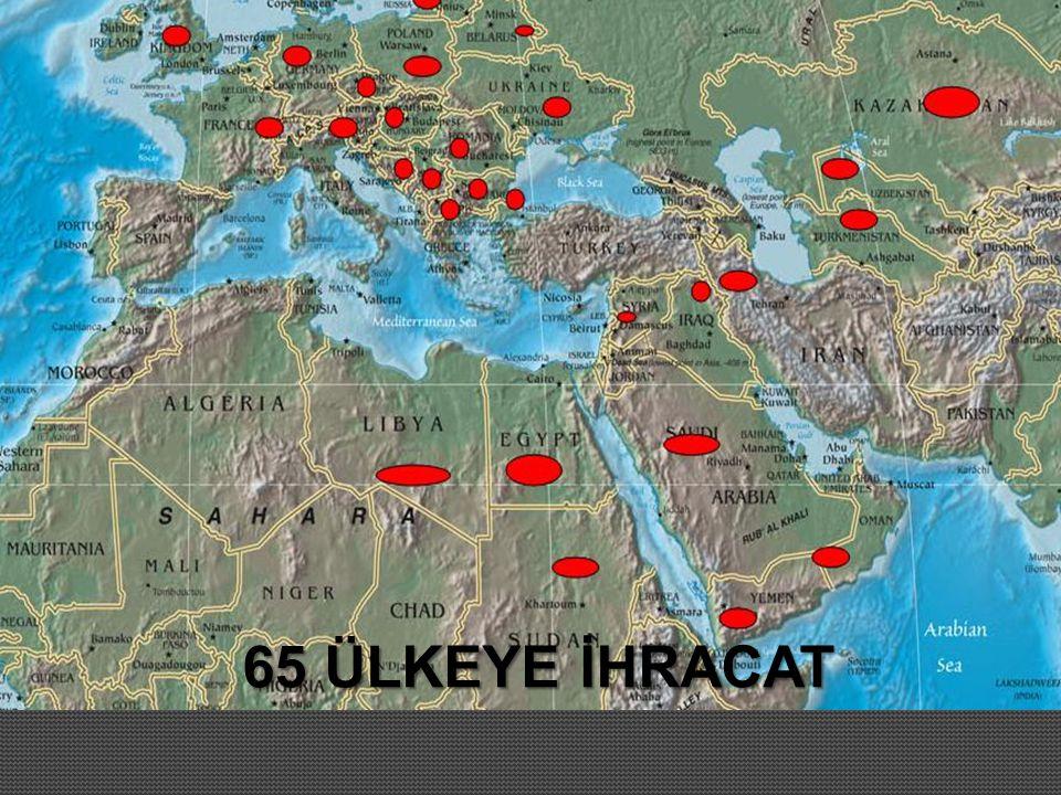 65 ÜLKEYE İHRACAT