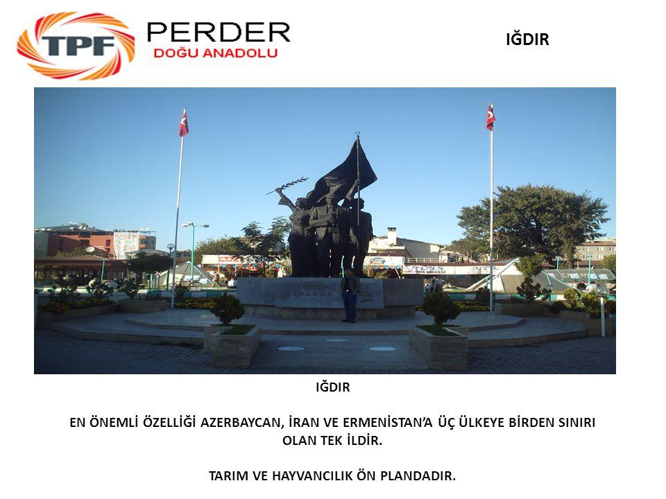 IĞDIR EN ÖNEMLİ ÖZELLİĞİ AZERBAYCAN, İRAN VE ERMENİSTAN'A ÜÇ ÜLKEYE BİRDEN SINIRI OLAN TEK İLDİR.