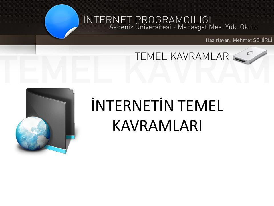 İNTERNETİN TEMEL KAVRAMLARI