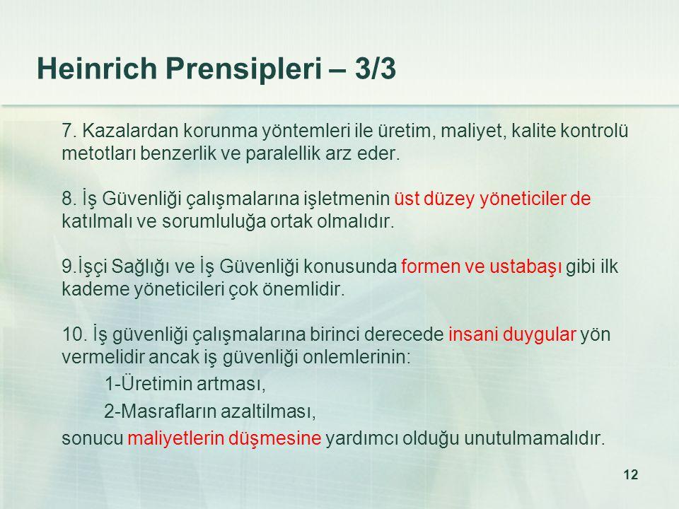 12 Heinrich Prensipleri – 3/3 7.