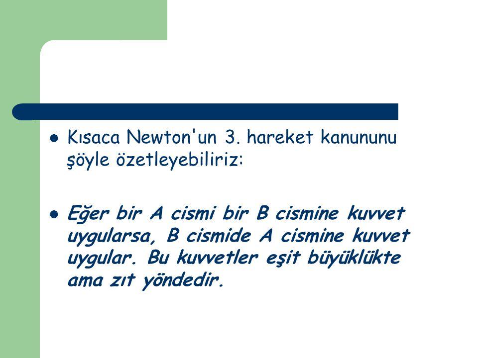 Kısaca Newton un 3.