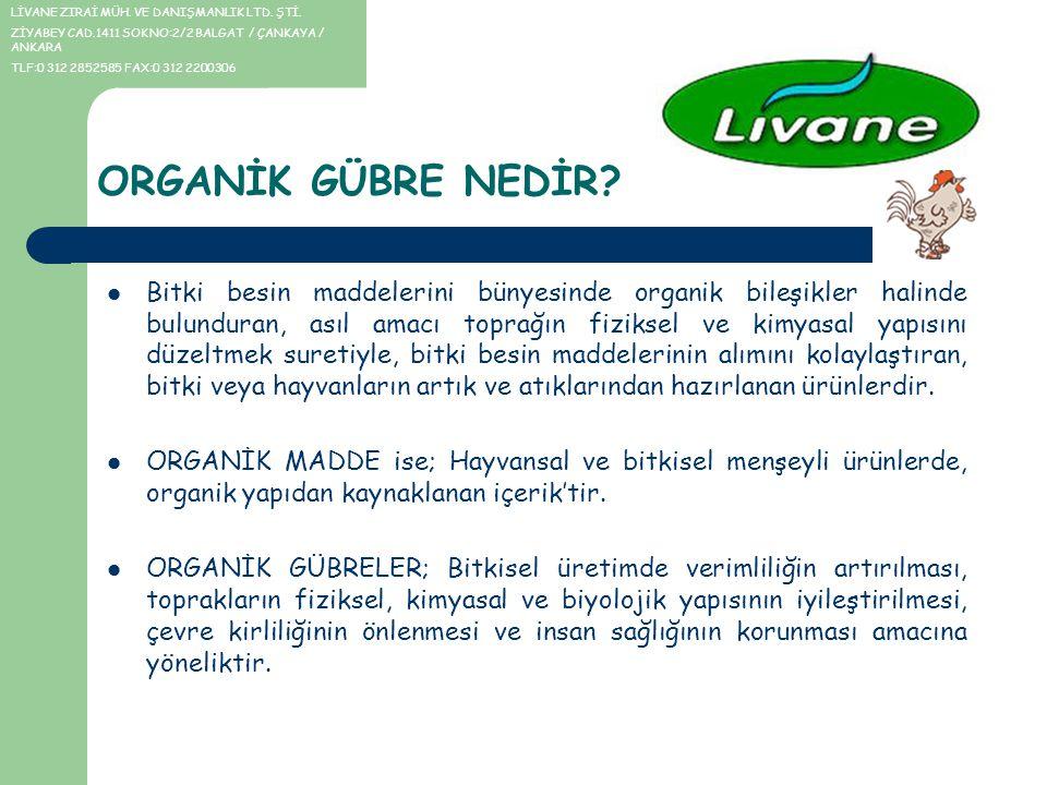 Türkiye topraklarının % 91'inde organik madde yetersiz Yapılan araştırmalara göre, Türkiye'deki tarım topraklarının % 91.4'ünde organik maddelerin yetersiz olduğunu vurgulayan uzmanlar, topraktaki sürdürülebilir verim için topraktan alınan bütün besin maddelerinin toprağa tekrar verilmesi gerektiğini, doğal organik tavuk gübresinin de sahip olduğu özellikler itibariyle, bunun için birebir olduğunu belirtmektedirler.