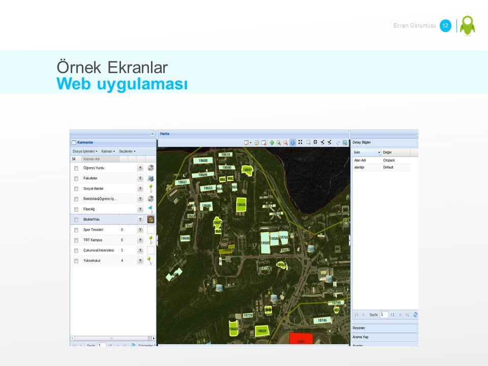 Örnek Ekranlar Web uygulaması Ekran Görüntüsü 12