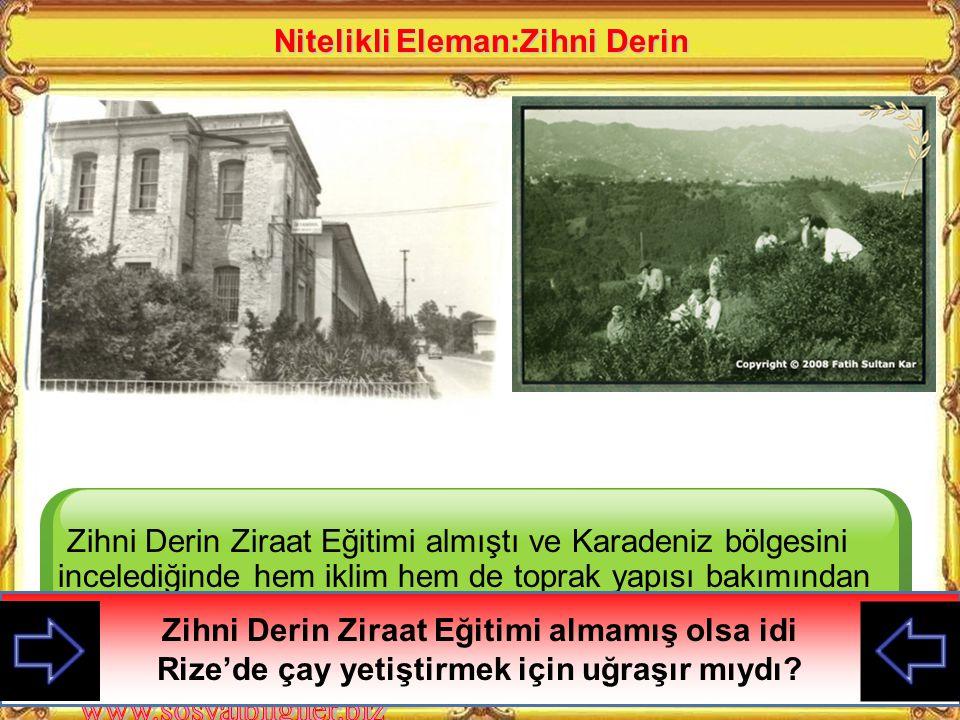 Zihni Derin 1900'de Selanik Ziraat Mektebinden ve 1904'de de İstanbul'daki Halkalı Ziraat Yüksek Okulundan mezun olur İktisat Bakanlığında ilk Ziraat