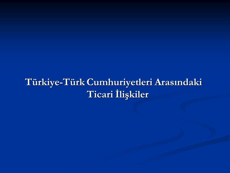 Türkiye-Türk Cumhuriyetleri Arasındaki Ticari İlişkiler