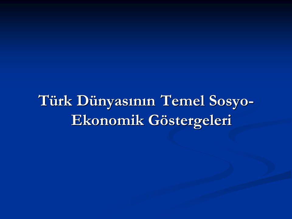 Türk Dünyasının Temel Sosyo- Ekonomik Göstergeleri