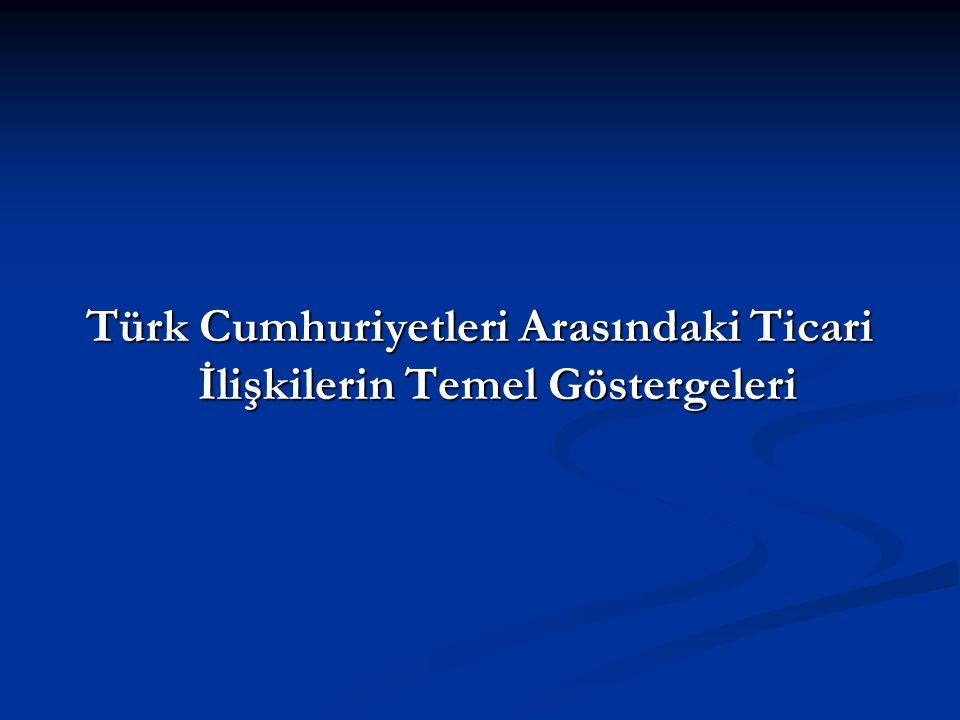 Türk Cumhuriyetleri Arasındaki Ticari İlişkilerin Temel Göstergeleri