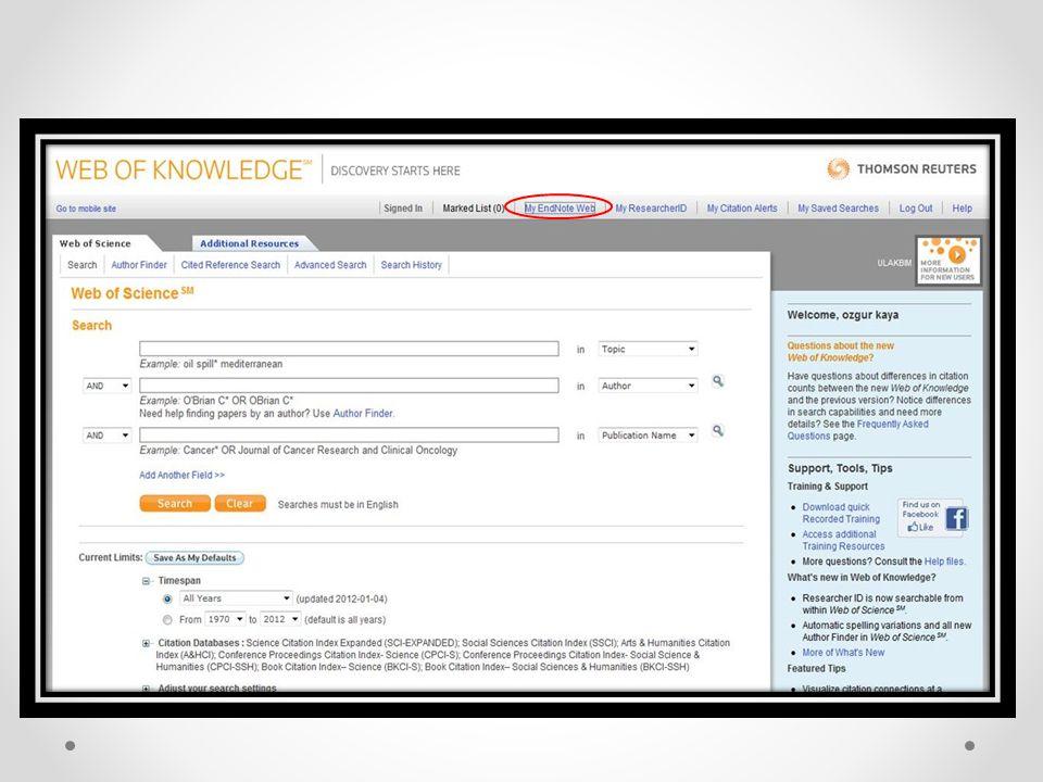  Kendi arşivini oluşturarak kendi bilgi veritabanına kolayca erişebilme, tarayabilme, ve erişilen yeni sonuçları kaydedebilme,  İşbirliğini kolaylaştırmak için meslektaşlar arasında bilgi paylaşımı yapma,  Yazarlık araçları, evraklar ve raporlar, elyazmaları, kitaplar, özgeçmiş vb için formata göre referans hazırlama,  PubMed, WOS, Scopus vb değişik kaynaklardan direk kaynaklar listesi oluşturma ve bu listeyi kütüphaneye ekleme,  10.000'e kadar referans kaydını kendi kütüphanenizde saklama ve internet üzerinden kendi veri tabanına ulaşma, imkanı sağlar.