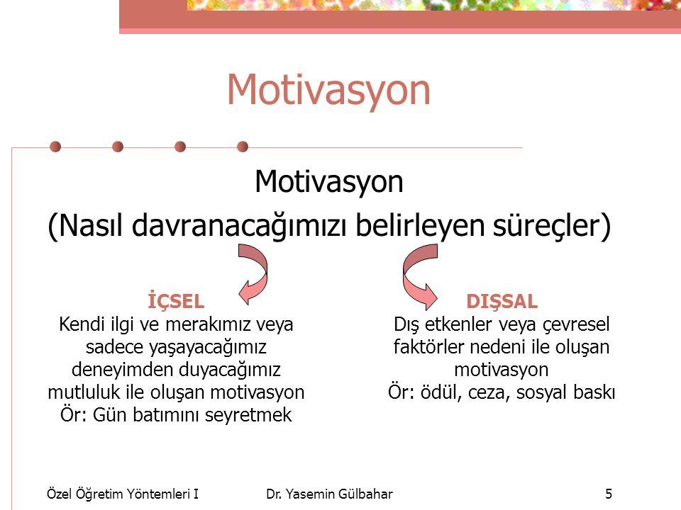 Özel Öğretim Yöntemleri IDr.