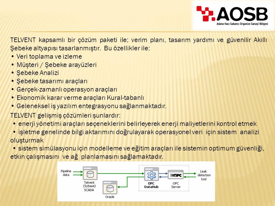TELVENT gelişmiş çözümleri şunlardır: enerji yönetimi araçları seçeneklerini belirleyerek enerji maliyetlerini kontrol etmek işletme genelinde bilgi a