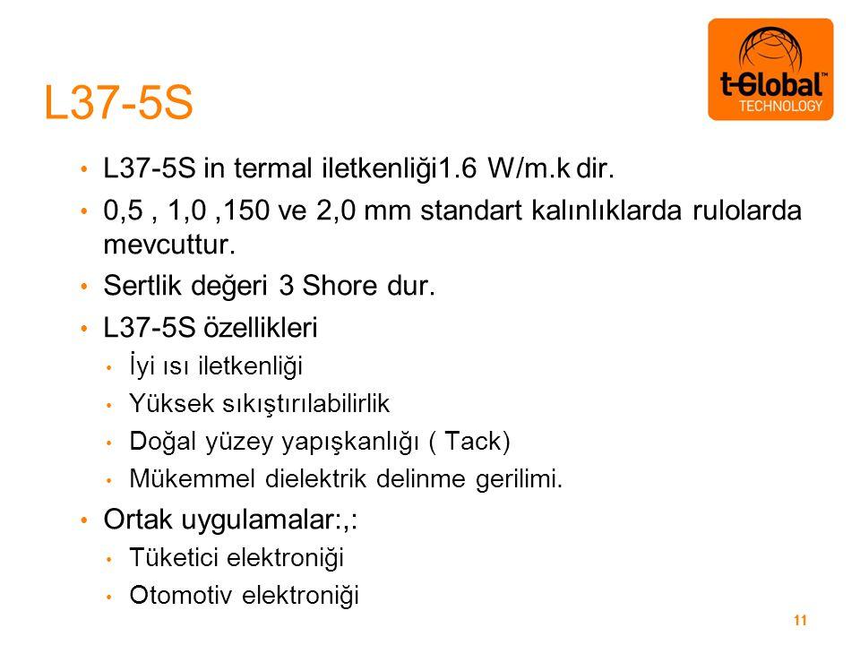 11 L37-5S in termal iletkenliği1.6 W/m.k dir.