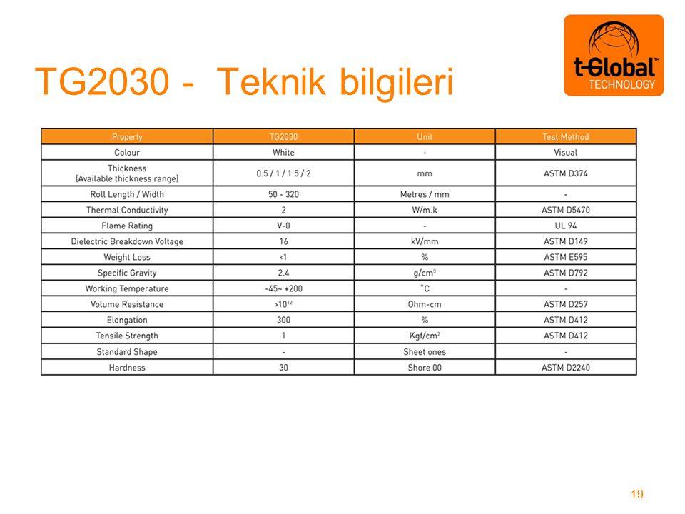 TG2030 - Teknik bilgileri 19