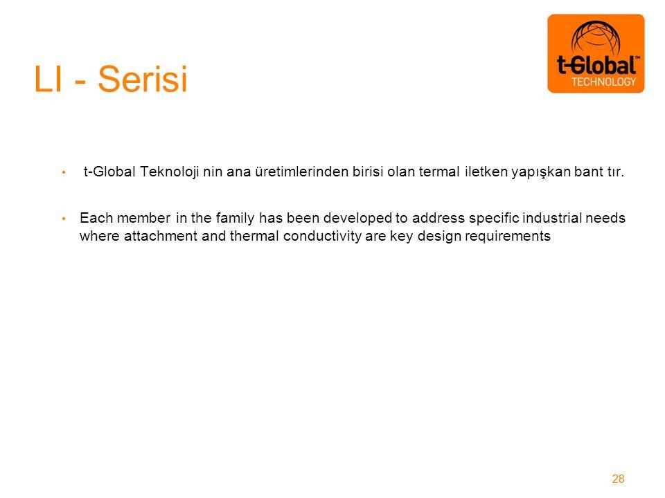 28 t-Global Teknoloji nin ana üretimlerinden birisi olan termal iletken yapışkan bant tır.