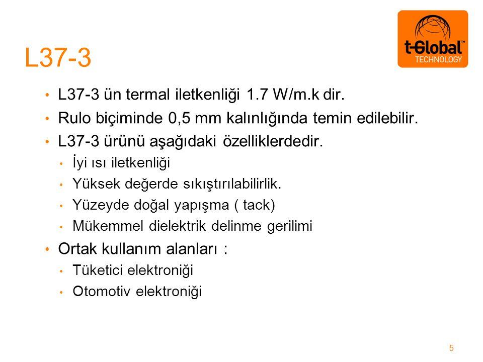 55 L37-3 ün termal iletkenliği 1.7 W/m.k dir. Rulo biçiminde 0,5 mm kalınlığında temin edilebilir.