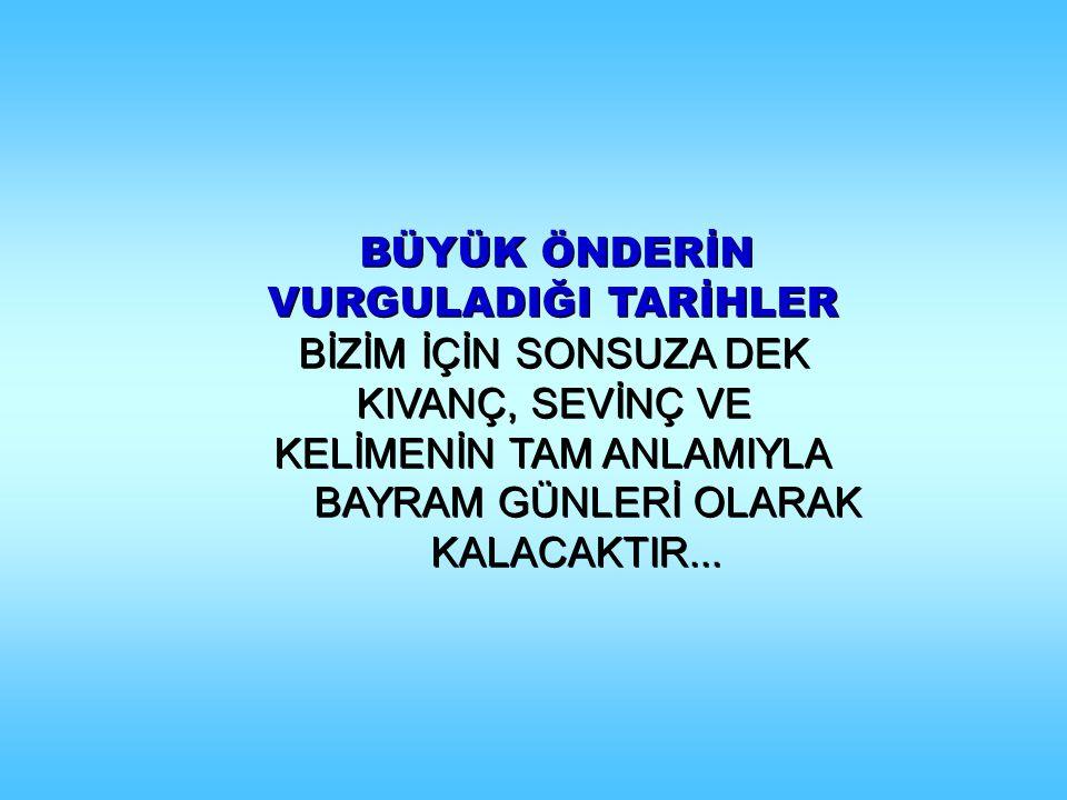 MUSTAFA KEMAL, Türk gençliğinin bayramı olarak NEDEN, SAMSUN'A ÇIKTIĞI TARİHİ SEÇMİŞTİR .