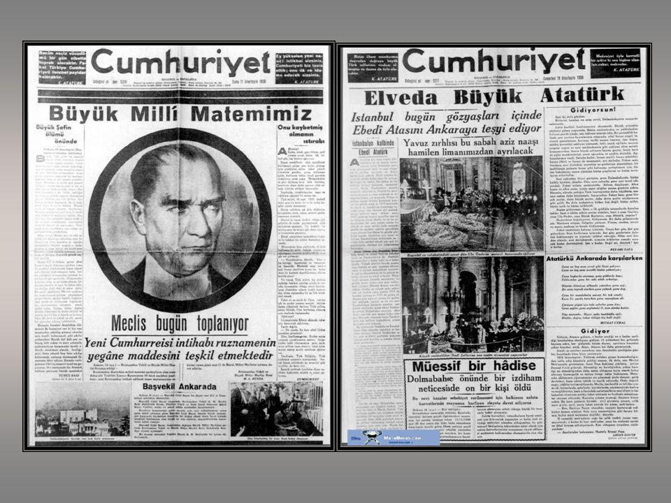 10 Kasım 1938 Saat 09.05 Gazi Mustafa Kemal ATATÜRK'ün fiziksel varlığının bu dünyadan ayrıldığı tarihtir.