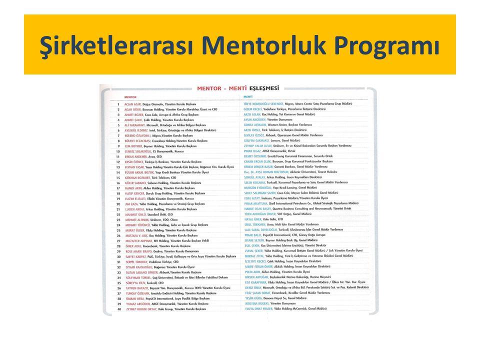 Şirketlerarası Mentorluk Programı