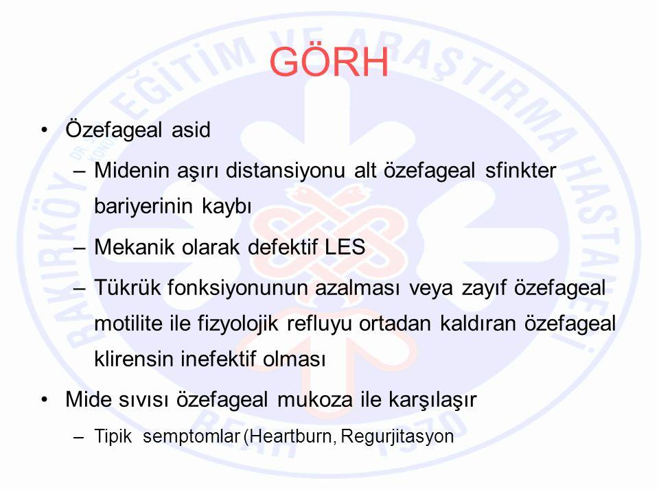 Bu konudaki soru işaretleri nedeniyle Amerikan Gastroenteroloji derneği –Semptom (+) endoskopi (-) antireflu adayı hastalar –Antireflu cerrahiden sonra şüpheli reflu şikayetleri –Reflu şikayeti (+) normal / şüpheli endoskopi bulgusu olan ve PPI tedavisine refrakter olgular –Normal kardiak fonksiyonlu göğüs ağrısı –Şüpheli otolarengoljik bulgularda (laryngitis, farengitis kronik öksürük) –Nonalerjik astmlı hastalar Sonuçlar 3