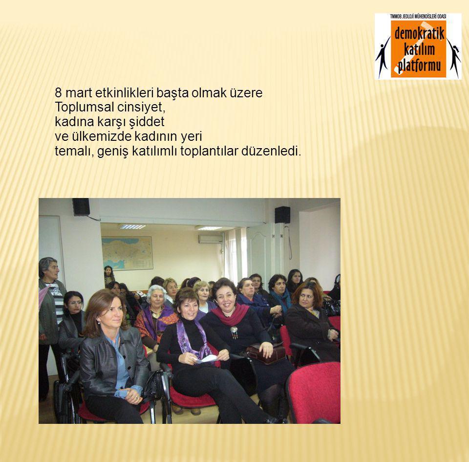Birliğimiz ve odamız dışındaki kadın örgütlenmeleri ve Kadın guruplarıyla iletişim ve dayanışma içinde olmaya önem verdi.