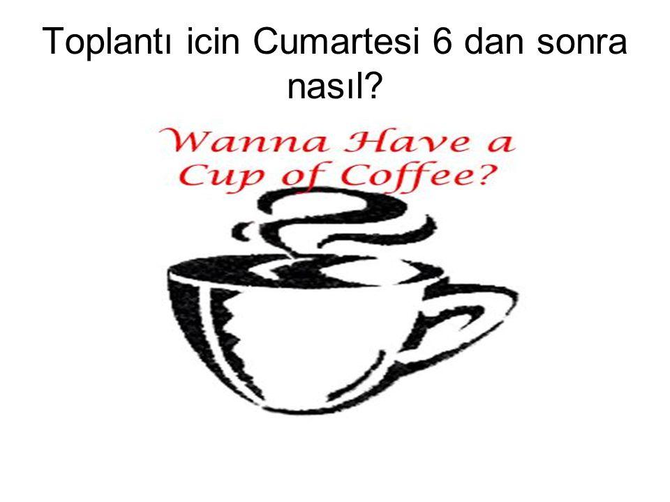 Peki Esperanto veya Nehir cafe olur mu?
